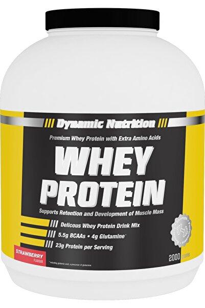 Dynamic Nutrition Whey Protein Tozu 2000 gr (Çilek Aromalı)