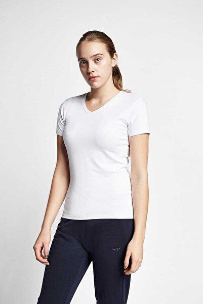 Lescon Kadın Beyaz Kısa Kollu T-shirt 19s-2202-19b