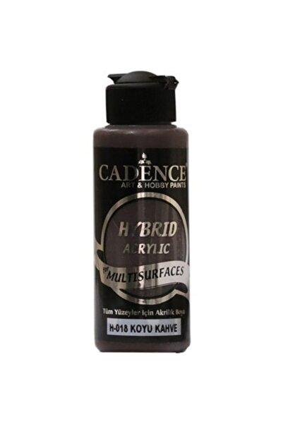 Cadence Multisurface Hybrid Hibrit Akrilik Boya H-018 Koyu Kahve 120 ml