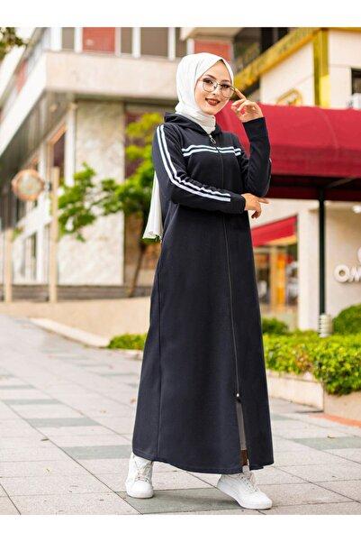 TOFİSA Kadın Siyah Cep Detaylı Pardesü