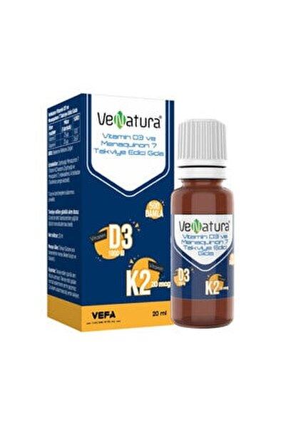 Vitamin D3 Ve Menaquinon 7 Takviye Edici Gıda 20 ml