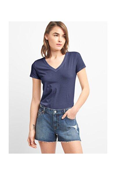GAP Kadın Kısa Kollu V Yakalı Vintage T-shirt