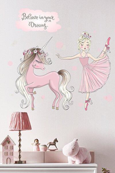 KT Decor Balerin ve Unicorn Çocuk Odası Sticker