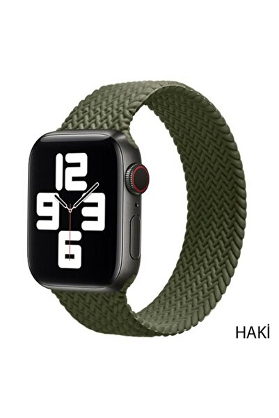 Techmaster Apple Watch Haki 1 2 3 4 5 6 42mm 44mm Solo Loop Tme Kordon Large