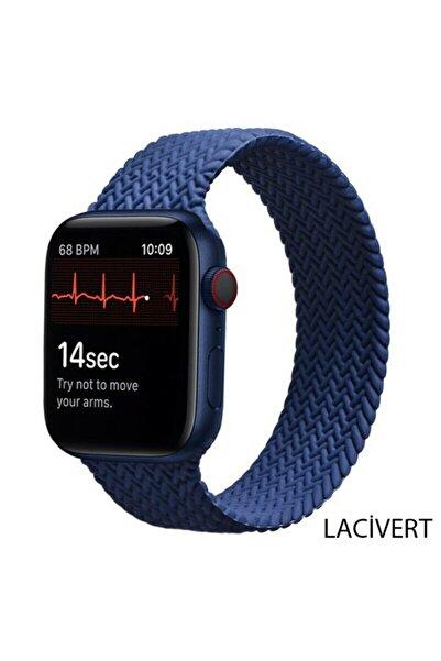 Techmaster Apple Watch 2 3 4 5 6 7 42 44 45mm Silikon Solo Loop Kordon Large