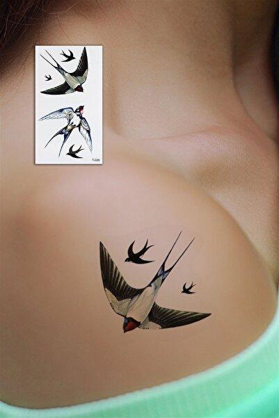 TAKIŞTIR Geçici Kuş Mini Dövme