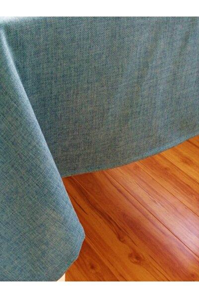 Fabric by Gülçin Pamuklu Sık Doku Denim Mavi Dikdörtgen Masa Örtüsü