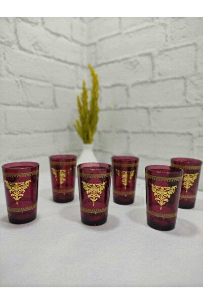 Limyacam Bordo 6 Kişilik Kahve Yanı Su Bardağı