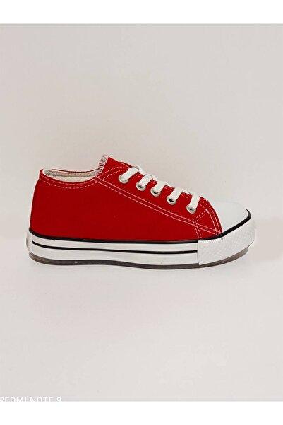 Vicco Unicex Patik Çocuk Keten Ayakkabı Kırmızı