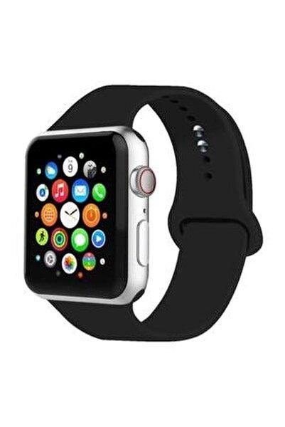 Apple Watch Kordon 2 3 4 5 6 Se Seri Uyumlu 42 mm ve 44 mm Silikon Kordon Kayış