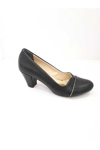 Essence Kadın Siyah Topuklu Ayakkabı