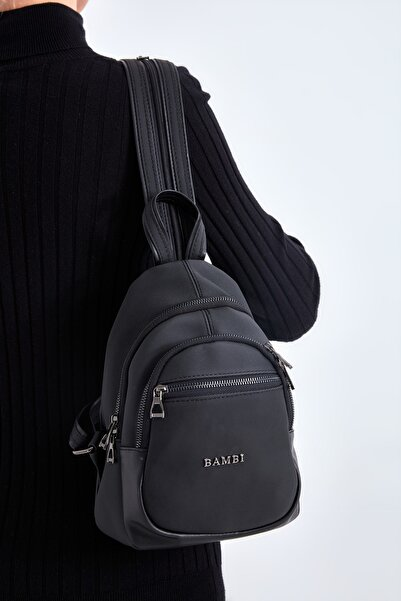 Bambi Siyah Sırt Çantası M3636293299