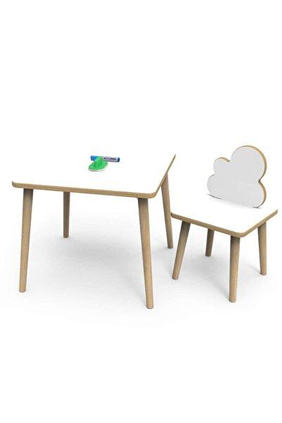 webkapinda Beyaz Yaz Sil Yüzey Çocuk Masa Sandalye Takımı