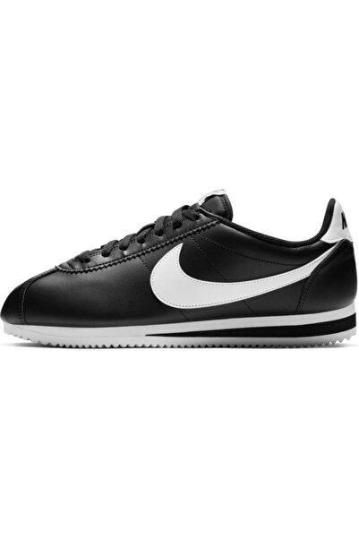 Nike Kadın Siyah Wmns Classıc Cortez Leather Spor Ayakkabı 807471-010