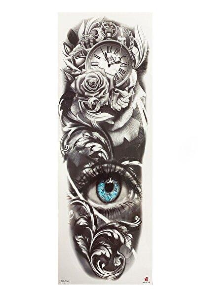 TAKIŞTIR Göz Ve Gül Detaylı Kol Dövme Tattoo