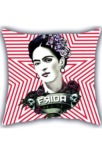 Panda Frida Kahlo Kare Yastık