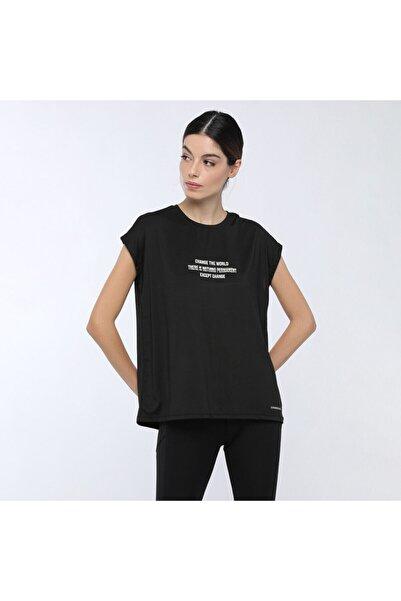 lumberjack ELENA T-SHIRT Siyah Kadın T-Shirt 100559694