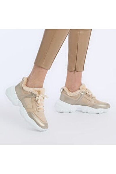 20K-607 Bej Kadın Fashion Sneaker 100579200