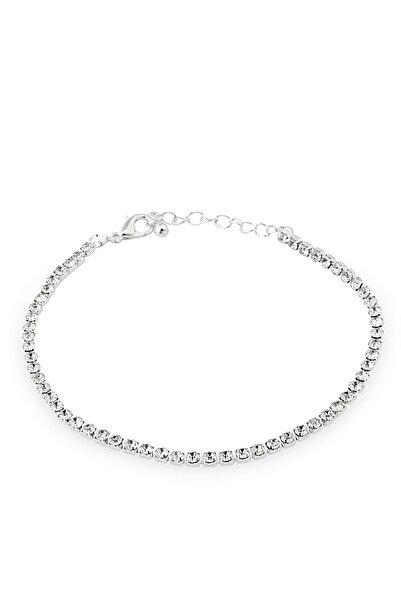 Duke Nickle Kadın Gümüş Zirkon Taşlı Su Yolu Bileklik Dbbl3049