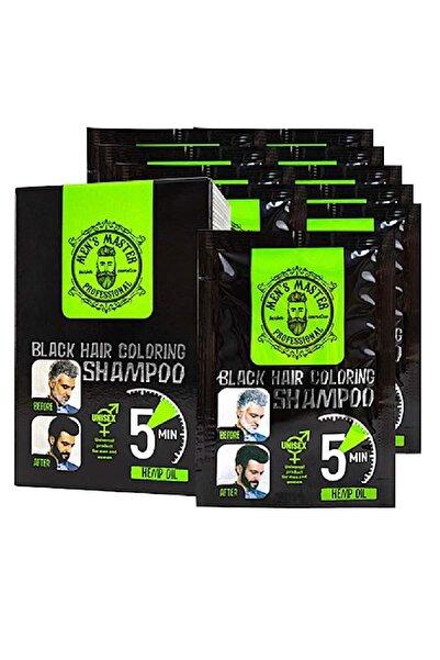 SPA MASTER Men Saç ve Sakal Renklendirici Unisex Siyah Şampuan 5x25ml