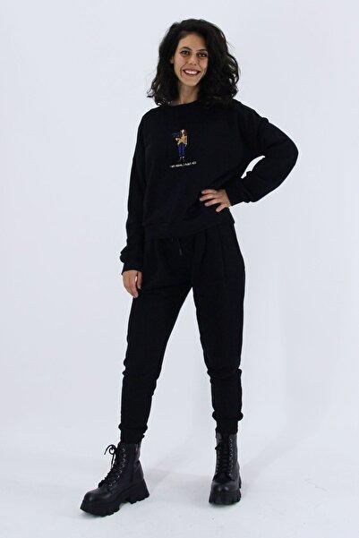 Nismia Kadın  Siyah Doğa Dostu Eşofman Takımı