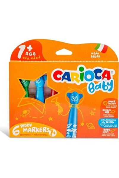 CARIOCA Carioca Teddy Jumbo Bebek Süper Yıkanabilir Keçeli Boya Kalemi 6'lı Eğitici Oyuncak Çocuklar Için