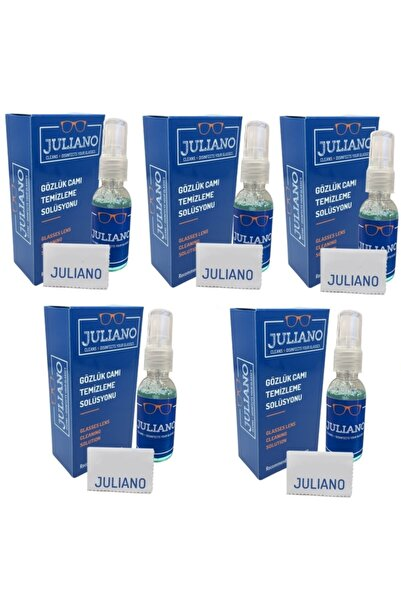 JULIANO 5 Adet Mikrofiber Gözlük Temizleme Bezi Ve Antistatik Sprey Set