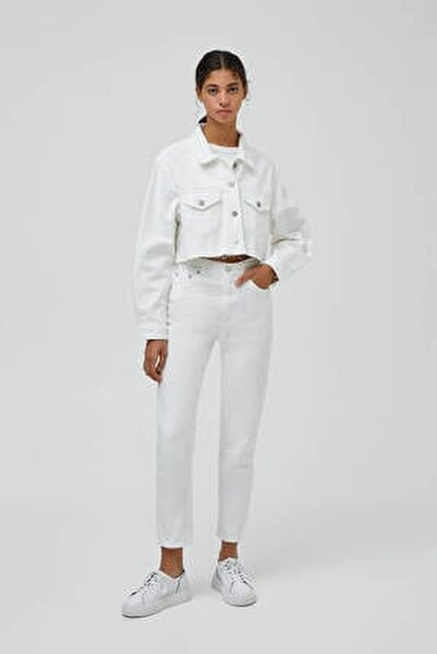 Kadın Mom Fit Basic Jean