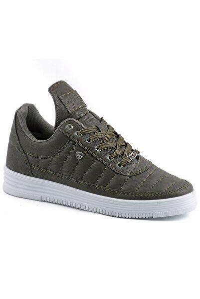 L.A Polo Erkek Dikişli Haki Beyaz Sneaker 07