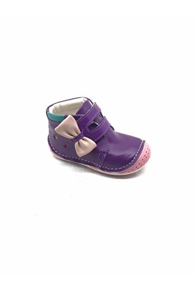 Polaris 5 Nokta Polaris 3765 Ortopedik Mor Deri Bebe Ayakkabı