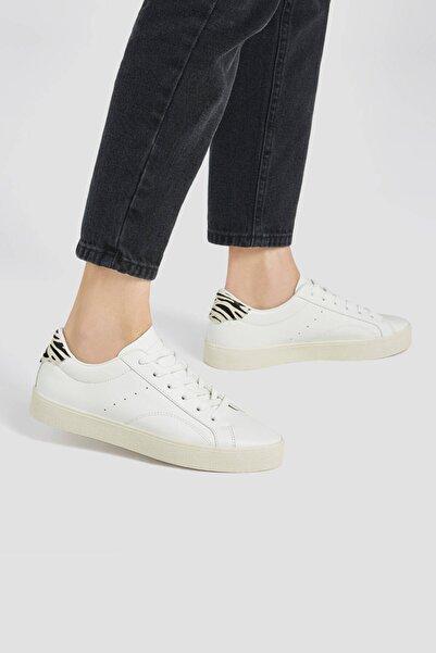 Pull & Bear Kadın Zebra Desenli Parçalı Spor Ayakkabı 11203740