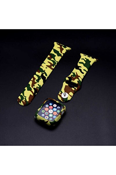 zore Apple Watch 42mm 3 In 1 Army Kordon Yeşil