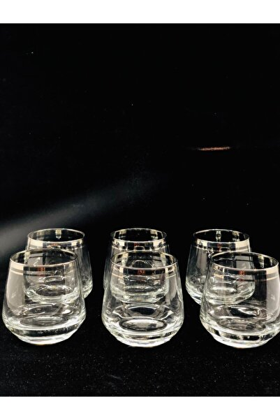 LAV Gümüş Yaldızlı 6'lı Meşrubat Bardağı Lal361