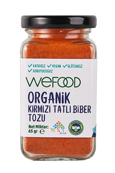 Wefood Organik Kırmızı Tatlı Biber Tozu 65 Gr