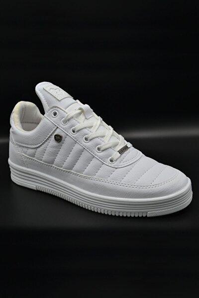 L.A Polo Erkek Beyaz Dikişli Sneaker 07