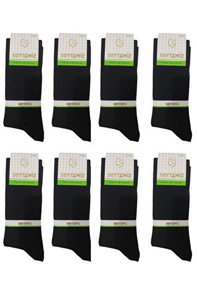 SOYTEMİZ ÇORAP Erkek Düz Siyah Çorap 8 Çift