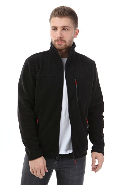 Honest Unisex Bato Yaka Tam Fermuarlı Ceket Siyah