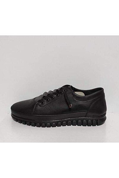 Palmera Erkek Siyah Suni Deri Ayakkabı