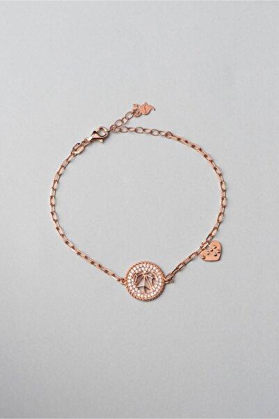 So CHIC... Sevgililer Günü Koleksiyonu 18k Rose Altın Kaplama Kalp Bileklik