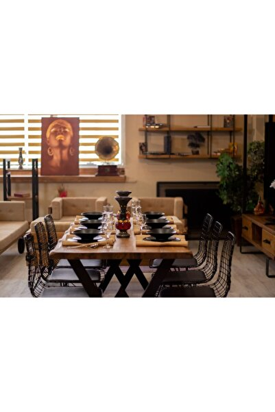 NT Concept Ntconcept Masif Ağaç Yemek Masası - 60cm-120cm Masa