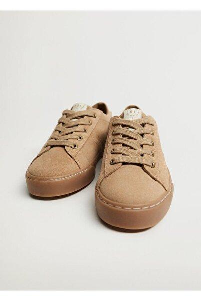 MANGO Kids Bağcıklı Deri Spor Ayakkabı