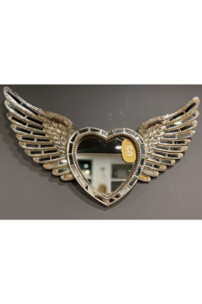 Lucky Art Gümüş Aynalı Melek Kanat 65 Cm
