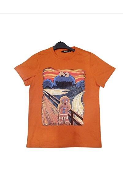 RİSE Kayrakarakutu Kurabiye Canavarı Çığlık Tablosu Baskılı Tişört