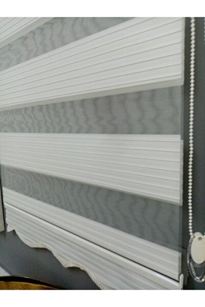 venedik home Stor Zebra Perde Geniş Pliseli Ekru Renk Ev-ofis (etek Dilimli)