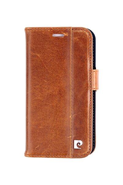 Pierre Cardin Iphone 12mini Taba Deri Kapaklı Cüzdan Kılıf