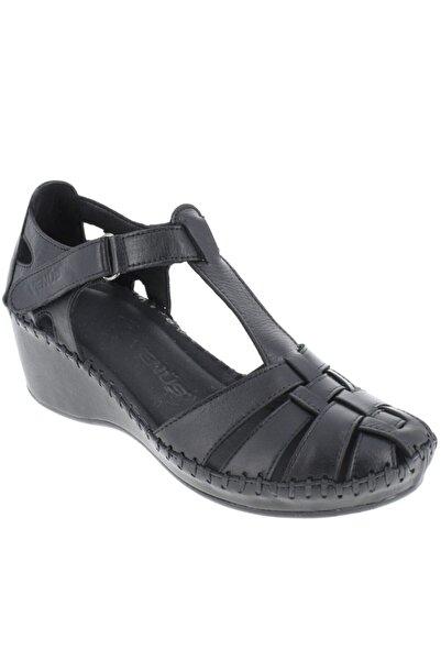 Venüs Kadın Siyah Sandalet Ayakkabı 18791382