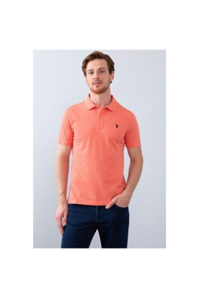 U.S. Polo Assn. Erkek Somon   Kısa Kollu  Polo Yaka T-Shirt