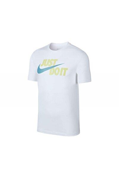 Nike Erkek Ekru M Nsw Tee Just Do It Swoosh T-Shirt Ar5006-104