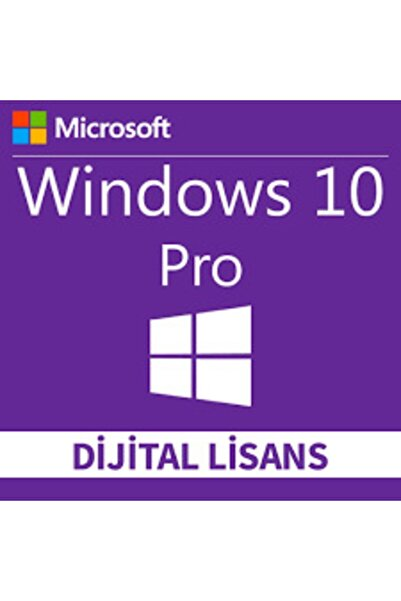 MICROSOFT Windows 10 Pro 32-64 Bit Dijital Lisans Anahtarı 1 Pc