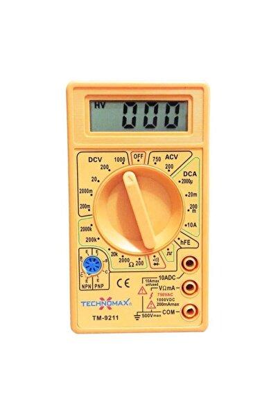 Hanedanev Dijital Ölçüm Ölçü Aleti Multimetre Ampermetre Test Cihazı Tm9211